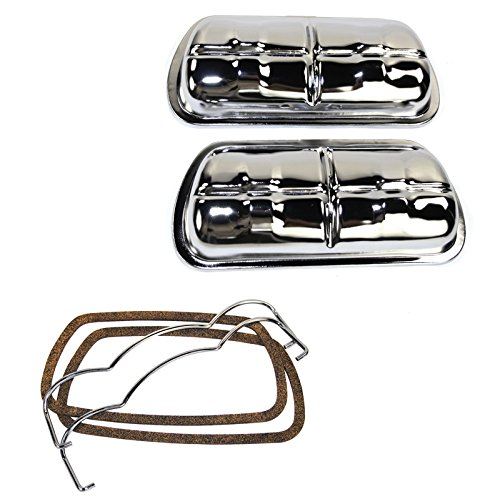 - EMPI 8905 CHROME VALVE COVER, PAIR, VW VOLKSWAGEN BUG, BEETLE, TYPE 3, GHIA, BUS, BAJA, SAND RAIL