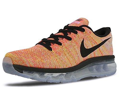 a4d82363e1 Galleon - Nike Flyknit Air Max Womens Running Trainers 620659 Sneakers Shoes  (US 6, Aluminium Black Hot Punch 406)