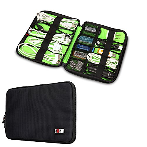 Price comparison product image BUBM Universal Cable Organizer Electronics Accessories Case USB Drive Shuttle/ Healthcare & Grooming Kit (Black)