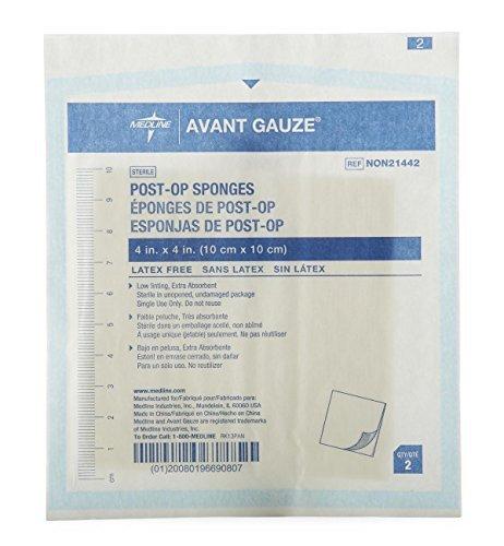 Medline NON21442Z Gauze, Sponge, Post-Op, 4'' x 4'', Stroll, Lf (Pack of 50)