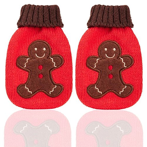 Mini Hottie Knit Reusable Hand Warmers Gingerbread Man (2 per order) - Mini Hottie Hand Warmer