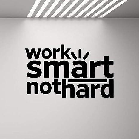Trabajo inteligente, no duro, etiqueta de la pared, cita de ...