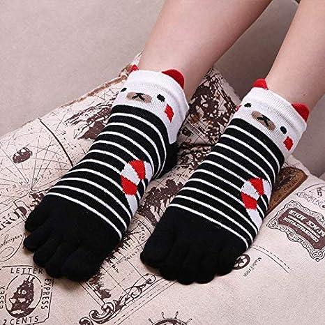 MDHWZ 3 Pares Calcetines de Las Mujeres Calcetines de algodón ...