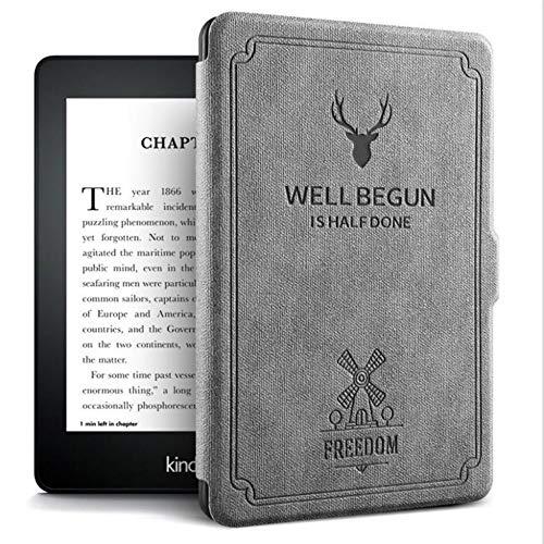 Kindle Protectora De Volver 2 Datoudatou E book Caso Paperwhite Funda Slim Cuero Gris Tpu 3 1 Para wqHp7X1