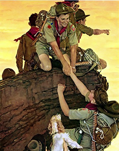 Amazon com: Boy Scout All Together Norman Rockwell Art Print