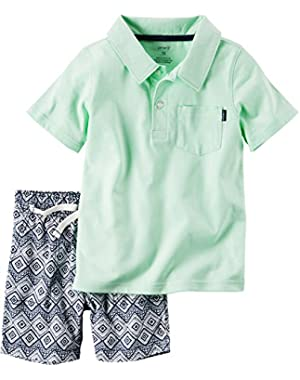Carter's Baby Boys' 2-Piece Polo And Geo Printed Shorts Set