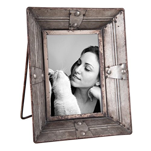 "Foreside Home & Garden FFRD00719 4"" x 6"" Riveted Picture Frame from Foreside Home and Garden"