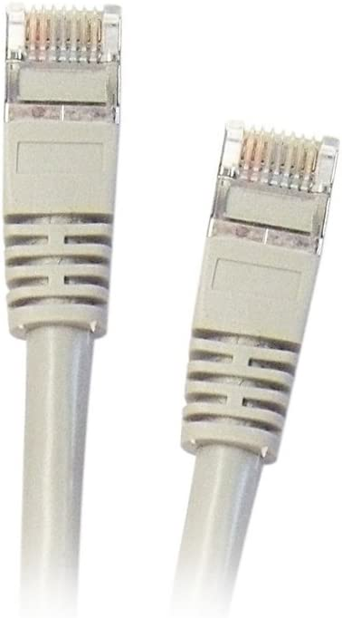 1 Pack ACL 1 Feet Shielded Cat5e Snagless//Molded Boot Ethernet Cable Gray