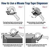 "BOX USA BTDEC3 Tape Logic Mouse Trap Carton Sealing Tape Dispenser, 3"", Red/Black"