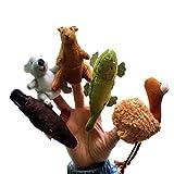 Happy Cherry - Marionnette à Doigt en Forme D'animaux Lot de 5 types différents - Koala / Kangaroo /2 Alligators / Platypus - Peluche Doudous Jouets pour Enfant Bébé