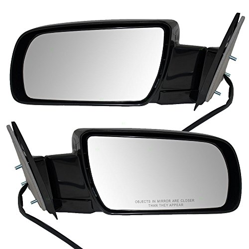 (Driver and Passenger Power Side View Mirrors with Metal Bases Replacement for Chevrolet GMC Pickup Truck SUV 15764757 15764758)