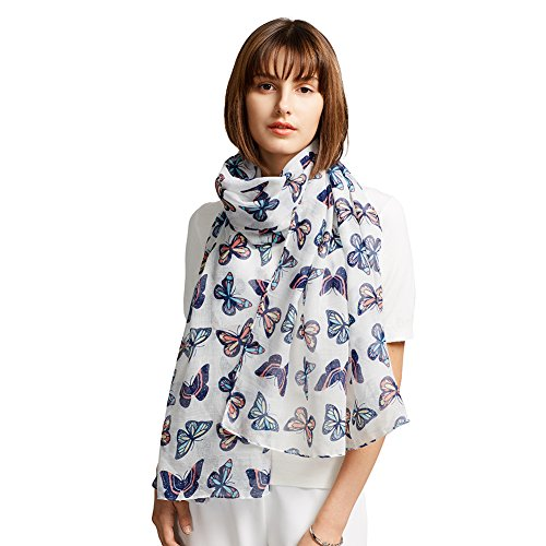 Butterfly Sweater (MaaMgic Womens Winter Large Butterfly Scarf Ladies Fashion Warm Soft Scarf)