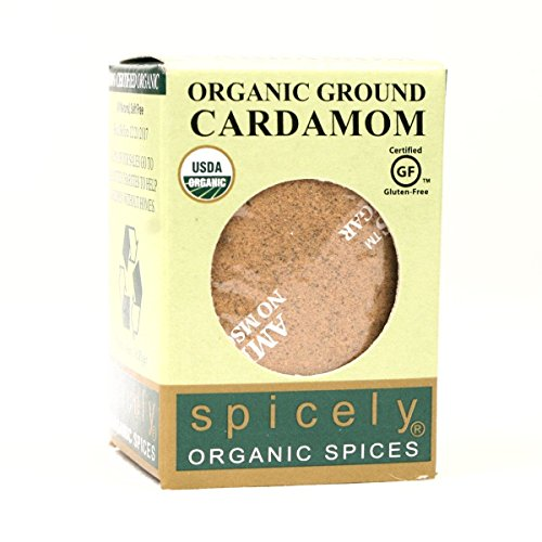 SPICELY Organic Ground Cardamom, 0.4 OZ ()