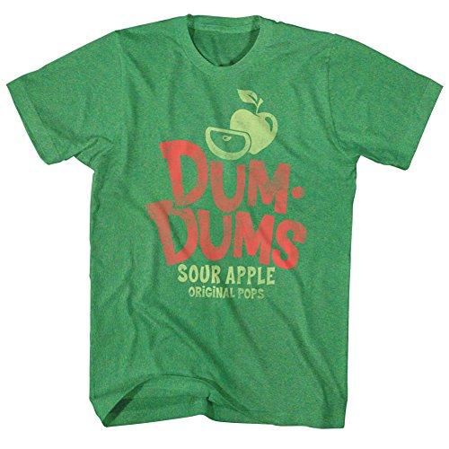 Dum Dum Tiny Lollipops (Dum Dums Sour Apple T-shirt, Heather Green, Large)