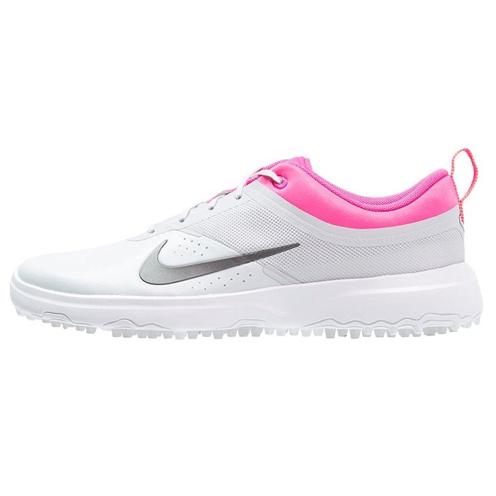 Nike Women's Akamai Spikeless Golf Shoes Grey/Pink/Multi (9.5M)