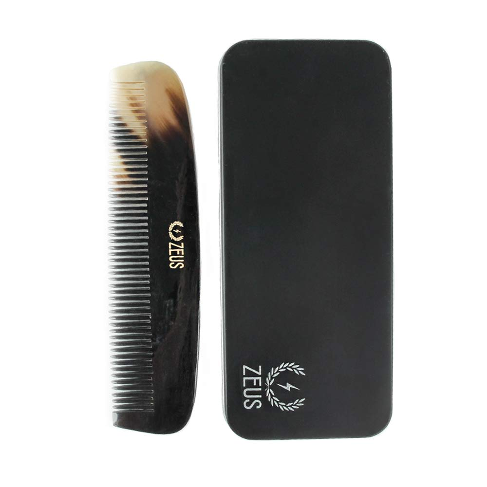 ZEUS Natural Horn Tooth Beard Comb, Wide Newport Apothecary Inc.