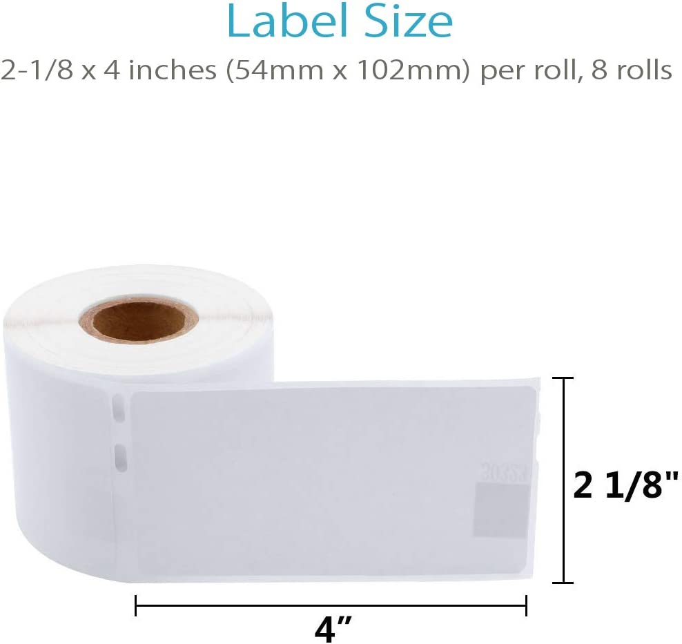 54mm x 102mm Dymo 30323 Compatible 2-1//8 x 4 10Rolls, 220//Roll Shipping Labels