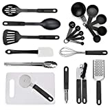 nylon cookware utensils - Kitchen Utensil Set - 21 Cooking Utensils - Nonstick Nylon and Stainless Steel Spatula Set with Cutting Board - Kitchen Gadgets Cookware Set - Best Kitchen Tools for Gift