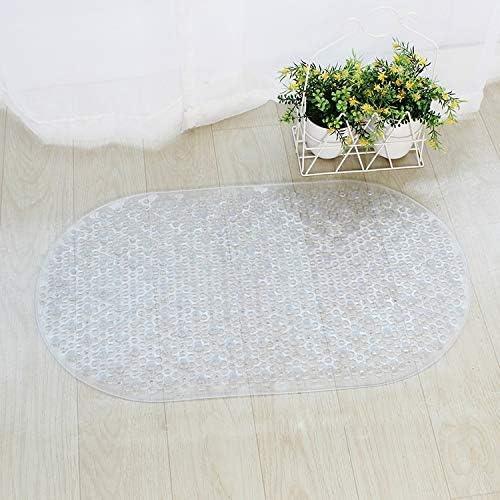 Hollylife Tappetino antiscivolo per vasca da bagno con ventosa antiscivolo lavabile in lavatrice 69 x 38 cm bianco trasparente