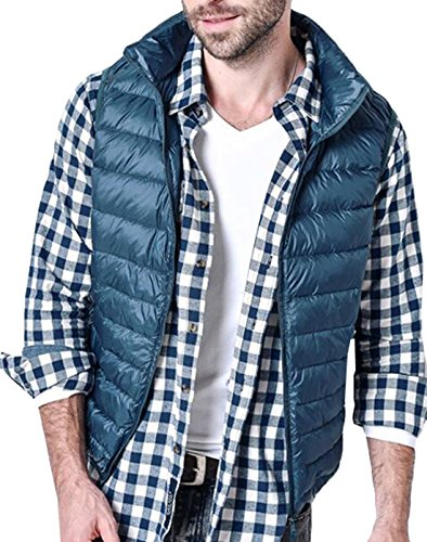 Coat Vest EKU Down Warm Men's Packable US Winter 3XL Blue Puffer Jacket pwqOT8