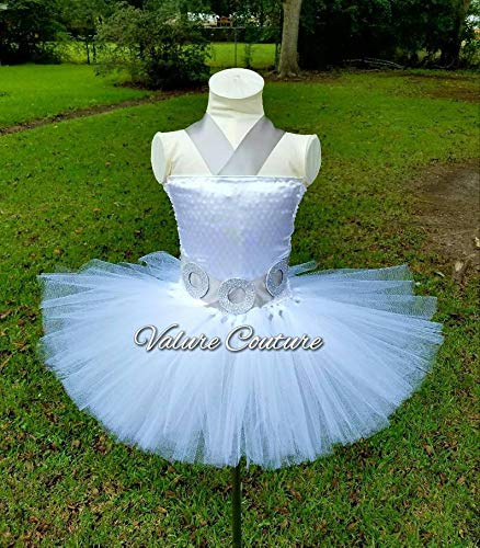 Star Wars Princess Leia Inspired Tutu Dress Costume Birthday Pageant Halloween Girls Newborn Infant Toddler Baby Outfit Onesie Shirt Bow Party Princess Kids Gift Topper Favors -