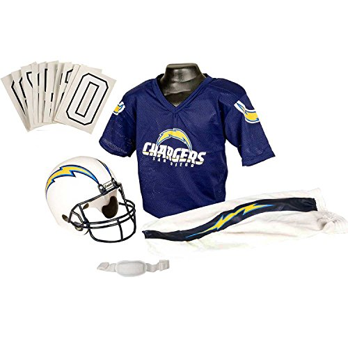 Franklin Sports NFL San Diego Chargers Youth Licensed Deluxe Uniform Set, (San Diego Chargers Clothing)