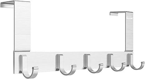 Suspendue au-dessus de la porte Crochets Chrome Finition facile installer Manteau Vêtements Cintre