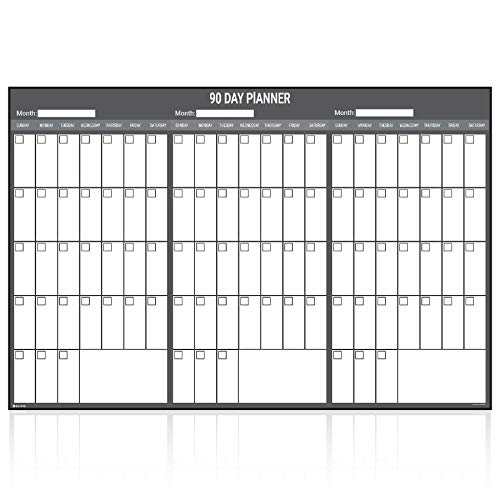Wall Calendar Dry Erase Three Month Planner Young N Refined (24x36) ()