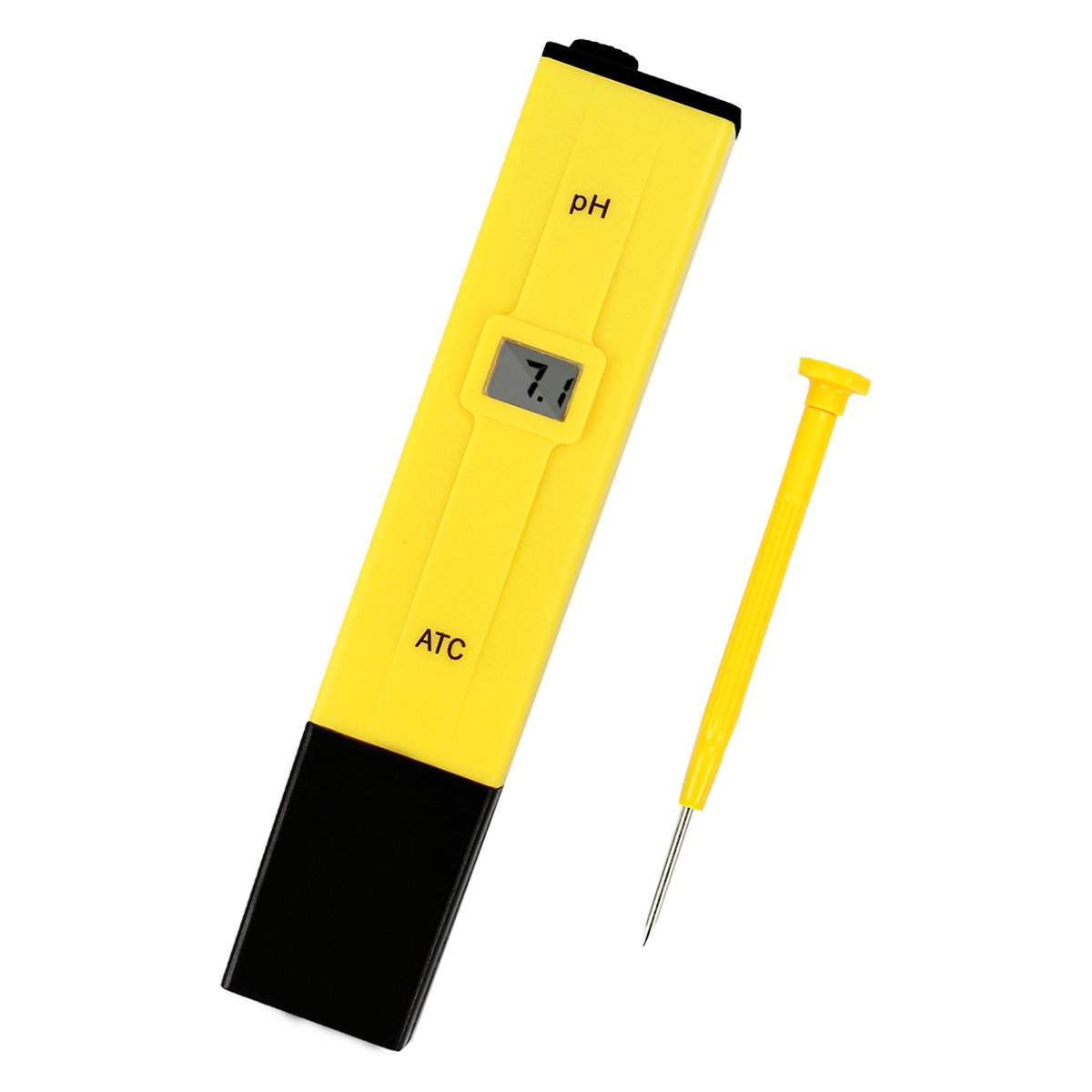 Digital pH Meter, JER Water PH Tester for Household Drinking Water, Aquarium, Swimming Pools and Hydroponics, 0.01 pH Resolution 0.00-14.00 Range, Large LCD Display, Pocket Size