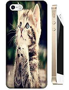 Cat cute new design stylish cell phone cases for Apple Accessories iPhone 5/5S by lolosakes
