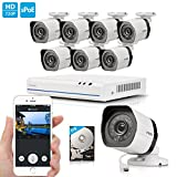 Zmodo 720p Megapixel 8 Channel NVR System 8 HD IP Home Video Security Cameras 2TB HDD