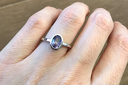 Blue Mystic Topaz Oval Stack Ring Size 6 ()