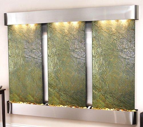 Adagio Deep Creek Falls Wall Fountain Green Solid Slate