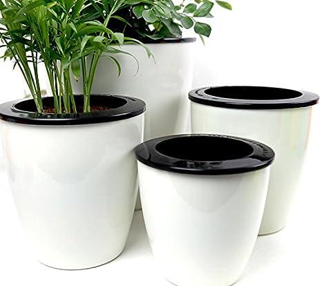 Mkouo - 3 pz, Vaso per fiori con irrigazione automatica, Vaso per ...