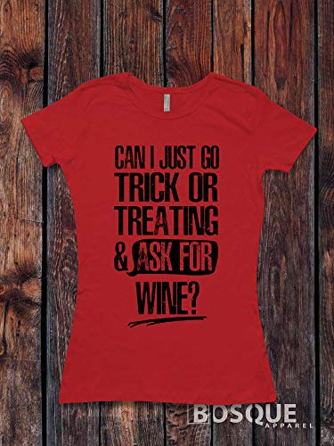 (Can I just go Trick or Treating and ask for wine? - Halloween inspired design - Ink Printed)