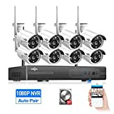 Cheap HisEEu Wireless Security Camera System,8CH 1080P NVR Home Security Camera System(CCTV Kits) with 8PCS 960P Inddor/Outdoor Bullet IP Cameras, Surveillance,3TB HDD Pre-Install