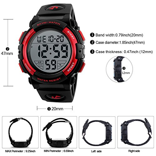Mens-Black-Digital-Sport-Watch-Black-Digital-Watch-for-Men-for-Teen-Sport-Outdoor-Silicone-Watch-with-5-ATM-Waterproof-Chronograph-Alarm
