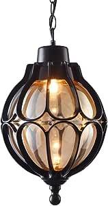 Amazon.com: WHYA Retro Exterior Glass Hanging Lantern ...