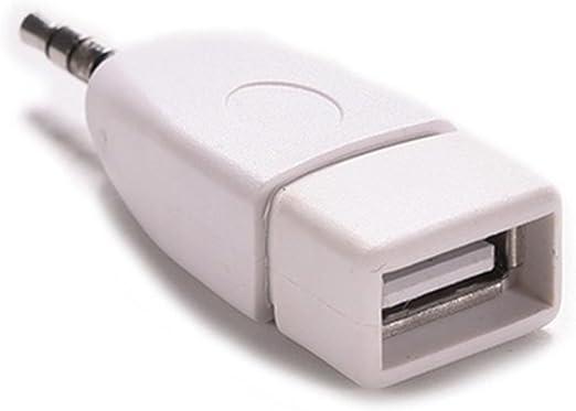 nero Coomoors USB femmina a AUX 3,5 mm maschio jack adattatore convertitore audio cavo dati