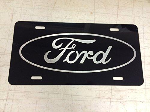 Ford Car Tag Diamond Etched on Aluminum License (Diamond Tag)