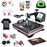 Fast Shipping Denshine 8 in 1 Heat Press Machine Multifunction Digital Swing Away Auto-Countdown Heat Press Machine for T-Shirt Hat Cap Mug Plate Hat Baseball Transfer Sublimation