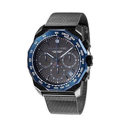 Perry Ellis Decagon GT 44mm Stainless Steel Quartz Watch 09008-04