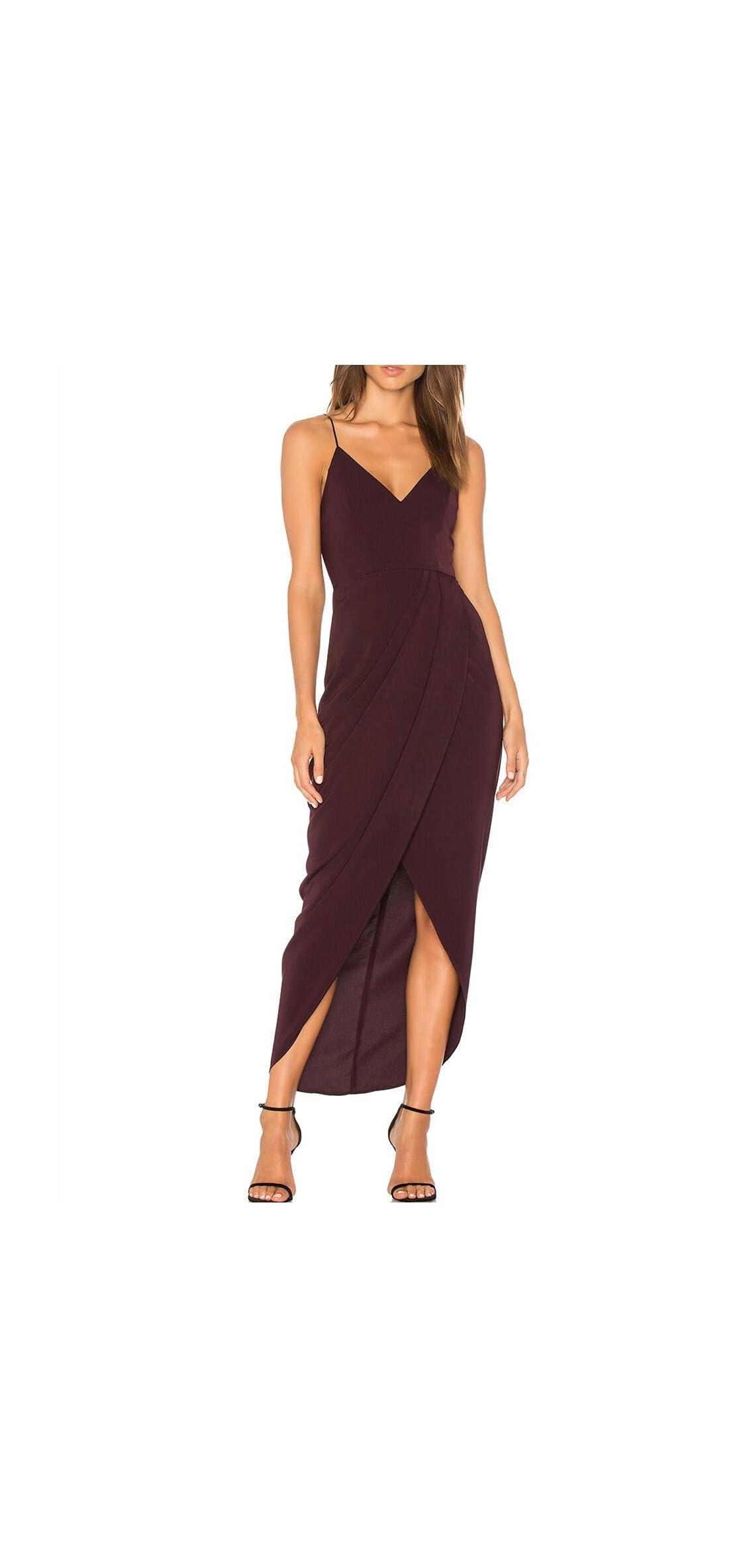 Women's Sexy V Neck Backless Maxi Dress Sleeveless Party