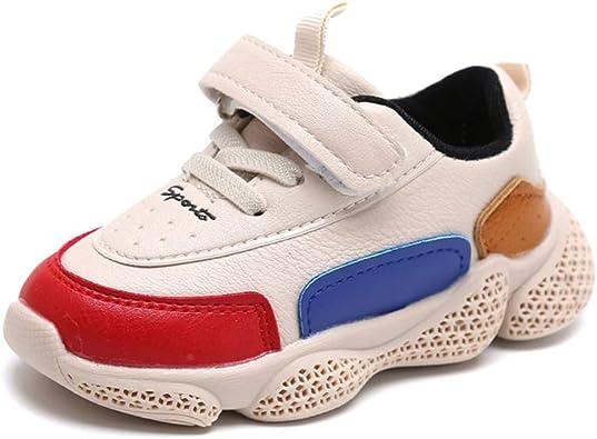 Calzado Deportivo para niños Chicos Zapatos para Correr Zapatillas de Cuero Suaves y con Fondo en la Parte Inferior de Las niñas Casual Zapatillas Antideslizantes Impermeables: Amazon.es: Zapatos y complementos
