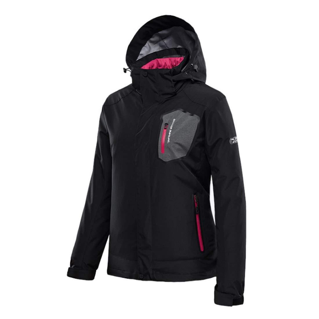 RVINFENDRIYUN YY4 Veste de Ski à Capuchon pour Femmes Winter Mountain Waterproof Windproof Outwear  M