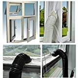 AirLock Window Seal for Mobile Air-Conditioning Units,400 cm Flexible Cloth Sealing Plate,Sealing Baffle Window Door Seal Window Frame Plate