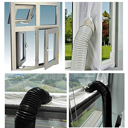 AirLock Window Seal for Mobile Air-Conditioning Units,400 cm Flexible Cloth Sealing Plate,Sealing Baffle Window Door Seal Window Frame Plate by MY'S