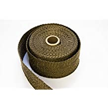 Titanium LAVA Exhaust heat header pipe wrap roll 2 INCH WIDE X 25 FEET LONG EXTREME high temperature wrap up to 3000°F - Thermal Zero - LV116225