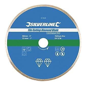 Silverline Tile Cutting Diamond Disc 200 x 25.4mm