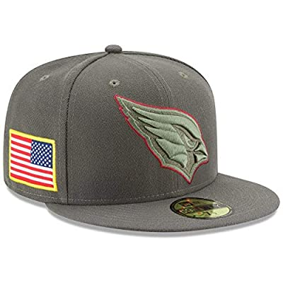 New Era Arizona Cardinals Olive 2017 Salute to Service Low Profile 59FIFTY Fitted Hat
